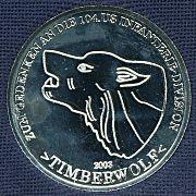 Medaille für die Timberwölfe, die von unserem Verein geschaffen wurde und zu einem Preis von 10,00 EUR erhältlich ist
